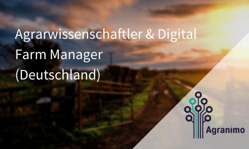 Agrarwissenschaftler & Digital Farm Manager (Deutschland)