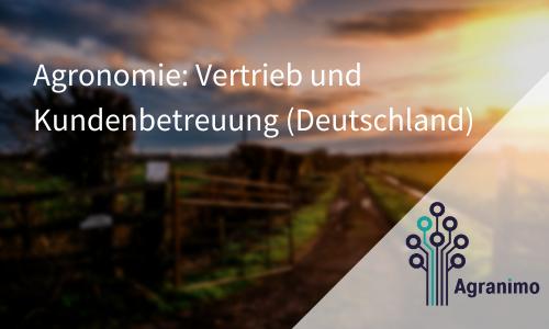 Agronomie: Vertrieb Und Kundenbetreuung (Deutschland)